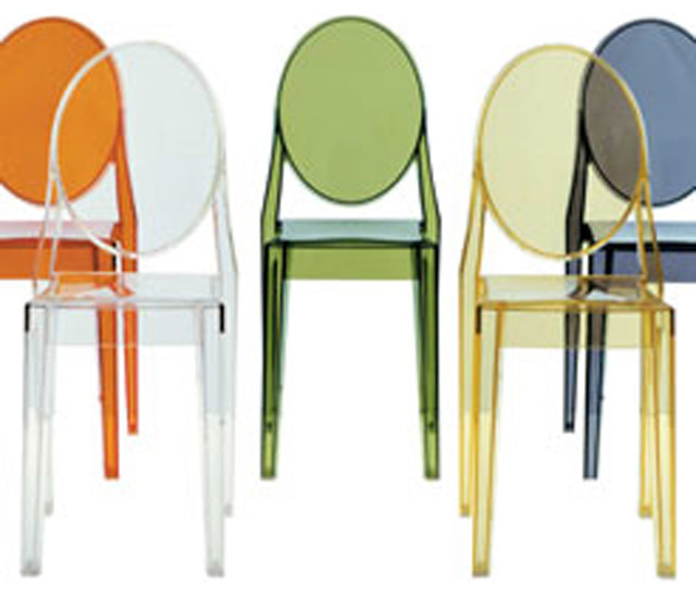 Kartell Victoria Ghost Chair (Set of 4) modern-dining-chairs
