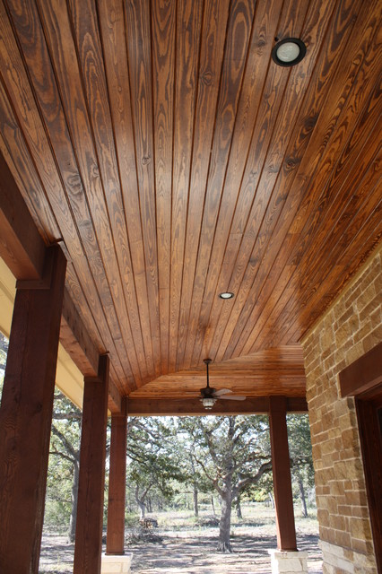 Burton - tongue and groove porch - Rustic - houston - by Mill Creek ...