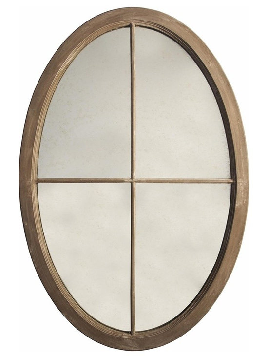 Oval Mirror, Weathered, Large -