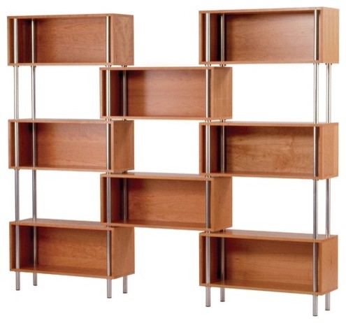Chicago 8 Box modern bookcases cabinets and computer armoires