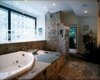 Doorless shower contemporary little rock by rod collins