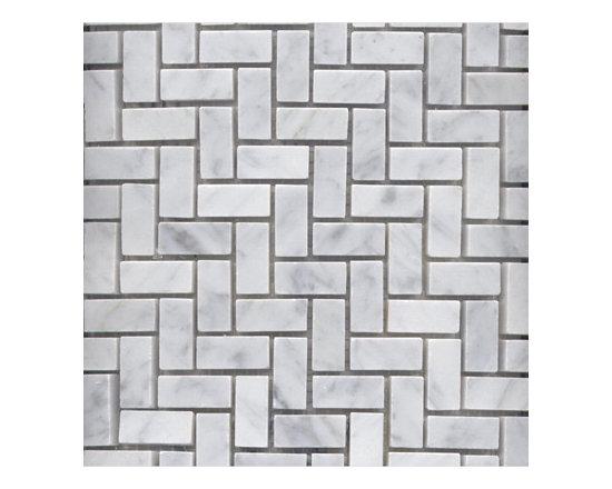 Bianco Carrara Marble Herringbone Mosaics -
