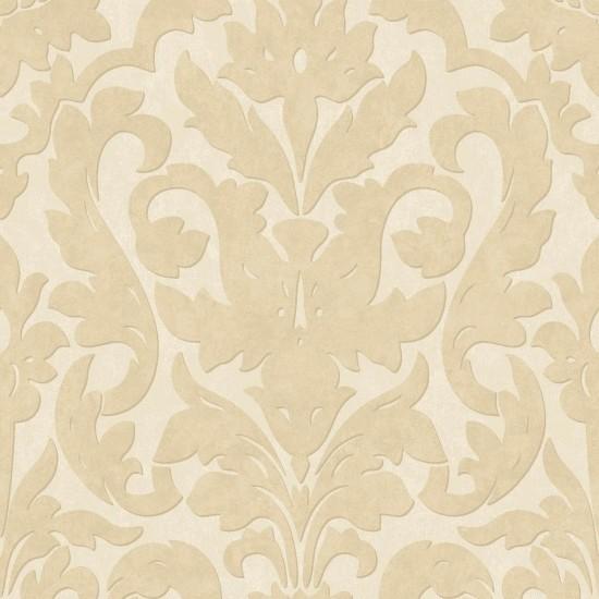 Dalarni damask pattern wallpaper cream sample for Cream wallpaper for walls