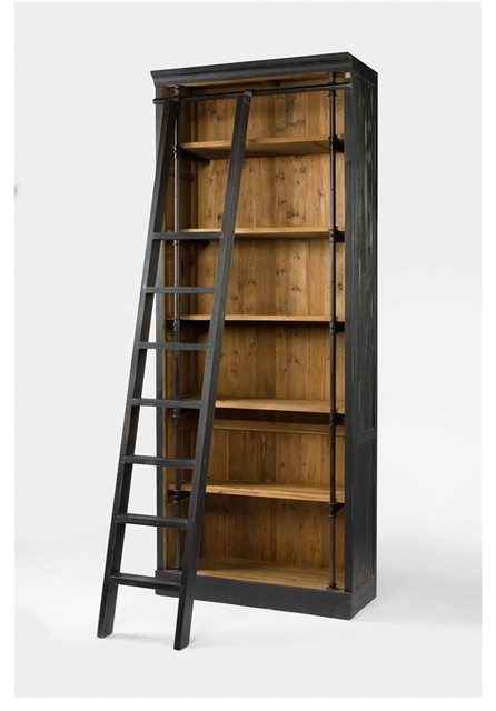 Ivy Bookcase and Ladder - Traditional - Bookcases - by Seldens ...