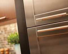 Urban Loft Living Stainless Steel Cabinetry contemporary-