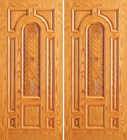 Front mahogany hand carved panel 8 panel moulding double for Traditional main door design
