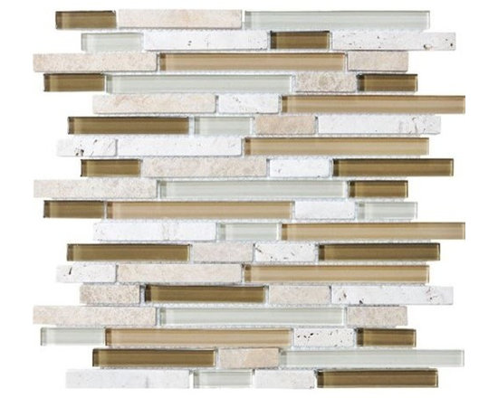 F09 Allure Linear Glass Stone Blend Mosaics - • Length: 12""