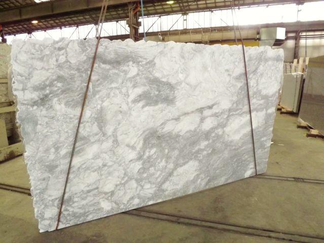 Super White Quartzite Slab Traditional Kitchen