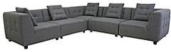 Alcoa Grey Fabric Modular Modern Sectional Sofa | Overstock.com