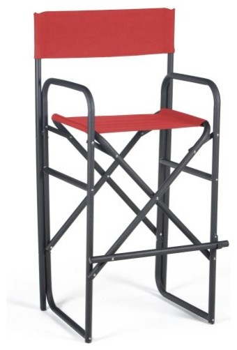 Newport 30.5 Inch Black Frame Director Chair Red modern chairs