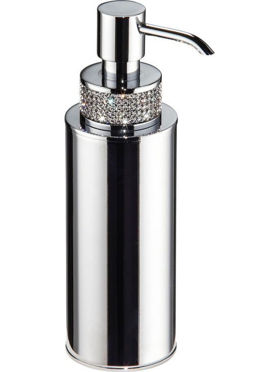 Carmen table soap dispenser Polished chrome. Swarovski crystals. - Carmen table soap dispenser.Polished chrome. Swarovski crystals..Designed and manufactured in Spain. For further information please contact us by email to: contact@macraldesign.com or by phone: 305 471 9041