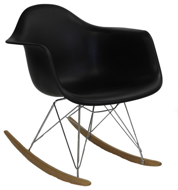 Modway Rocker Lounge Chair in Black contemporary-rocking-chairs