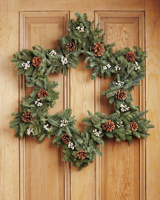 Star Wreath Contemporary Wreaths And Garlands By