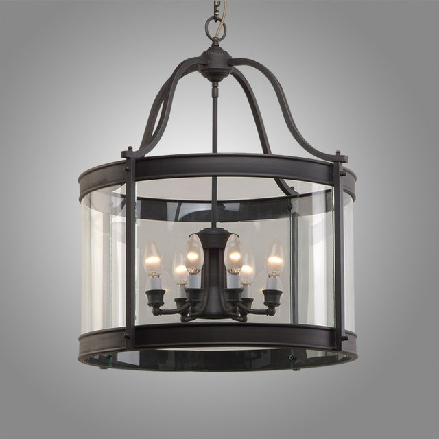 Antique Black Copper And Crysal Glass Pendant Lighting