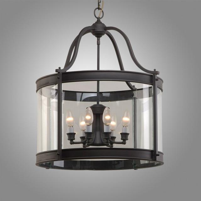 Houzz Bathroom Lighting Fixtures: Antique Black Copper And Crysal Glass Pendant Lighting