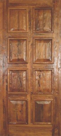 8 Panel Mesquite Door Traditional Interior Doors By