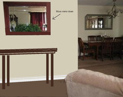 Entry Wall Mirror and Console Table