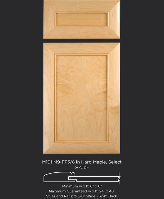 Maple Cabinet Door Style With Flat Panel And Bead Inside Edge Traditional Kitchen Cabinetry