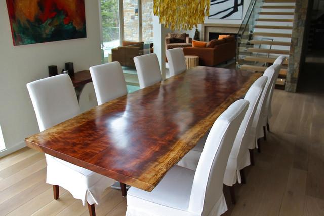 African Bubinga Dining Table