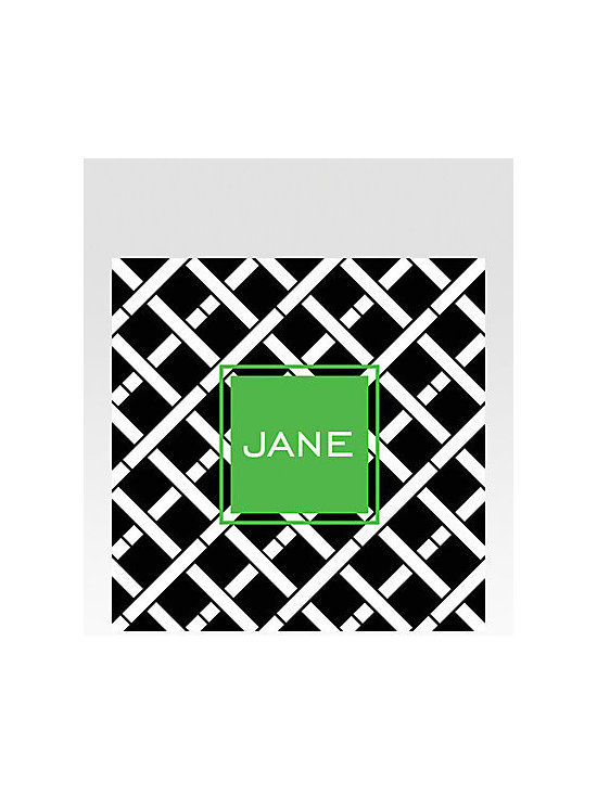 Dabney Lee Stationery Personalized Coasters, Crisscross -