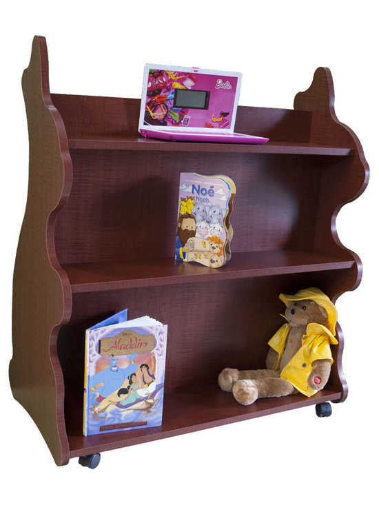 Mobile Baby Bookcase - Mobile Double Sided Bookcase Rabbit Cherry: This adorable mobile child's bookcase is perfect for to store all your child's favorite books and toys for years to come. The sylish design and wheels on the bottom make the  bookcase chic yet functional enough for any trendy home.