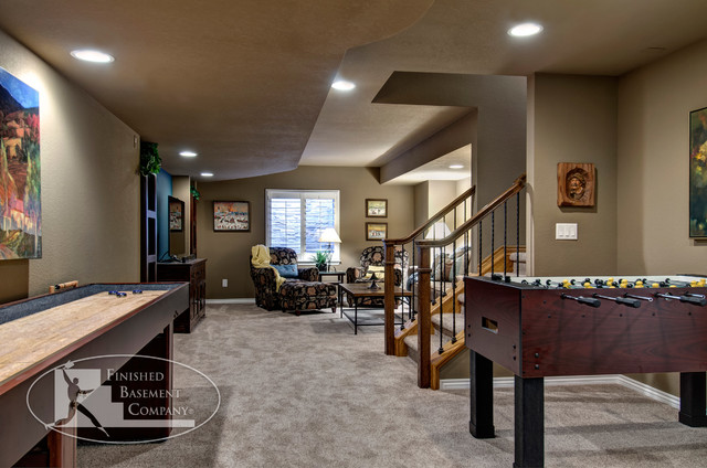 Basement Entry & Game Tables traditional-basement