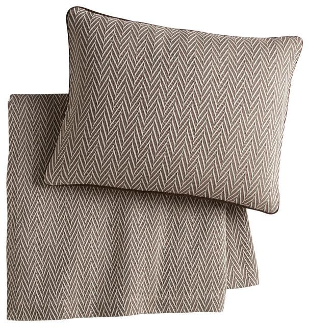 Veneto Sham, Driftwood, King traditional-pillowcases-and-shams