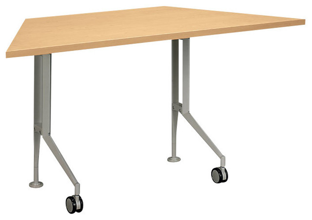 Motivate trapezoid table contemporary desks and hutches for Trapazoid table