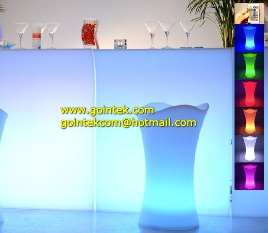 modern bar counter design with rgb color changing
