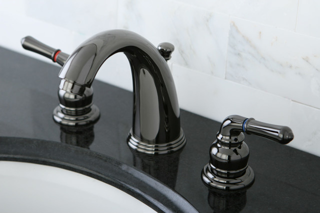 Black Faucets For Bathroom : Black Nickel Widespread Bathroom Faucet contemporary-bathroom-faucets ...