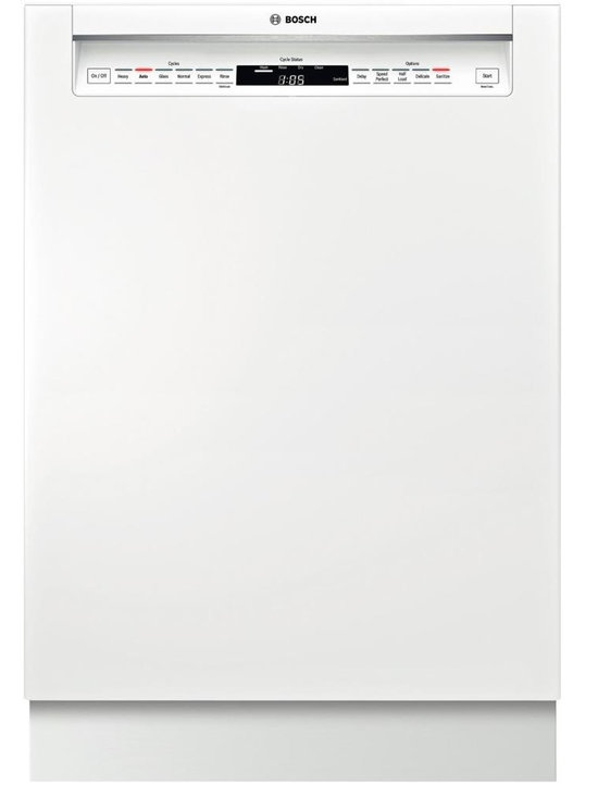 """BOSCH 24"""" Recessed Handle Dishwasher 800 Plus Series- White 