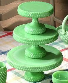 Hobnail Cake Plates contemporary-serveware