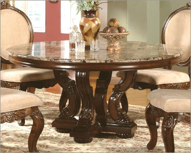 Mcferran Home Furnishings Marble Top Round Dining Table
