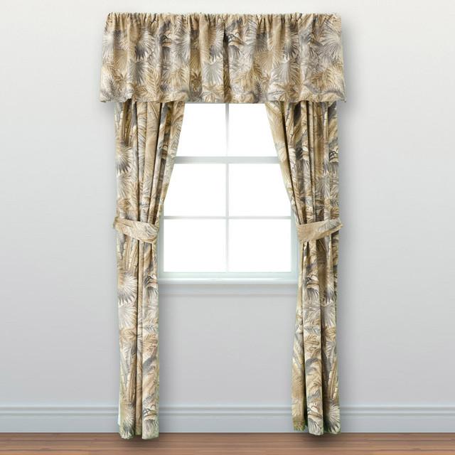Tommy Bahama Bahamian Breeze Cotton 4-piece Drape Set contemporary-curtains