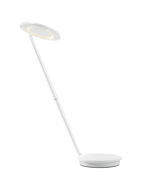 Pablo Designs - Pixo LED Desk Lamp (7 colours), White - Pixo's swiveling light shade and highly maneuverable arm lend it maximum utility within a minimal footprint. Its compact, energy-saving LED light is infinitely adjustable, allowing the user to focus warm, glare-free light wherever needed. The base integrates a USB port for charging mobile devices. Even more, the upper and lower pieces ship detached from one another to reduce packing materials and shipping costs. Pixo is 97% recyclable.
