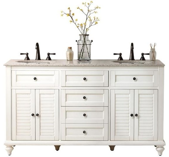 Hamilton Shutter Double Vanity Farmhouse Bathroom Vanities And Sink Consoles