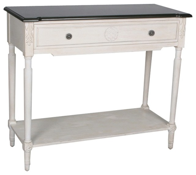 Safavieh Fairford 1-shelf White Console Table contemporary-console-tables
