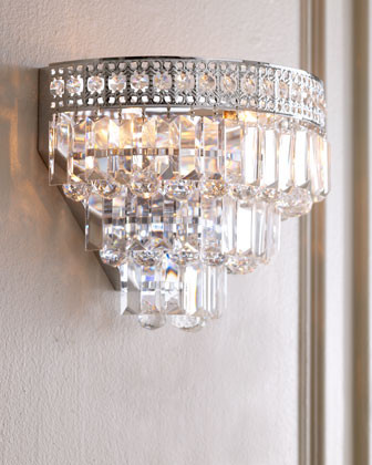 Crystal Wall Sconces Bathroom : Crystal Wall Sconce - Traditional - Wall Sconces - by Horchow