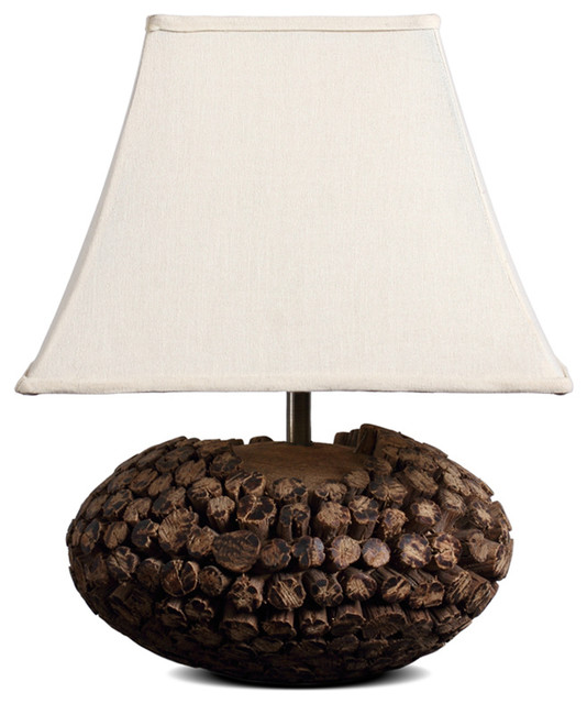 square bell shade country style wooden table lamp rustic table lamps. Black Bedroom Furniture Sets. Home Design Ideas