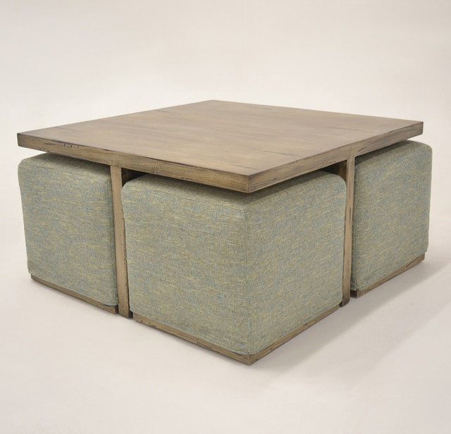Alton Coffee Table With Hidden Additional Seating Beach Style Coffee Tables Los Angeles