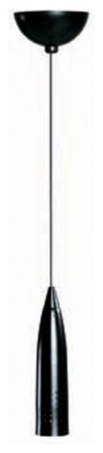 Access Lighting 52001-0-BL Steel Bullet Pendant Excluding Mono-Pod transitional-pendant-lighting