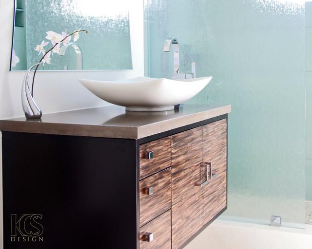 Kea Lani Floating Vanity By Kcs Design Modern Bathroom Vanity Units Sink Cabinets Los