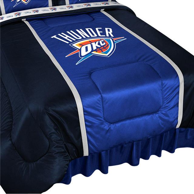 Http Www Houzz Com Photos 14677521 Nba Oklahoma City Thunder Bed Comforter Basketball Bedding Queen Modern Kids Bedding