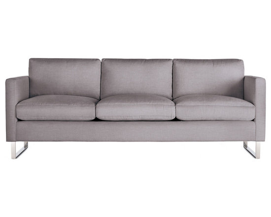 Goodland Sofa, Fabric, Stainless Legs -