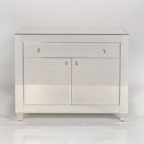 Worlds Away Thurston Mirrored Cabinet - Traditional ...