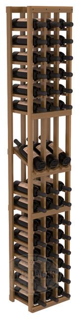 3 Column Display Row Cellar Kit in Redwood with Oak Stain + Satin Finish traditional-wine-racks