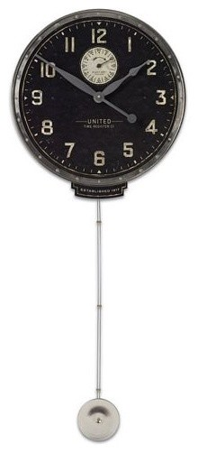 "Uttermost United time black 18"" modern-clocks"