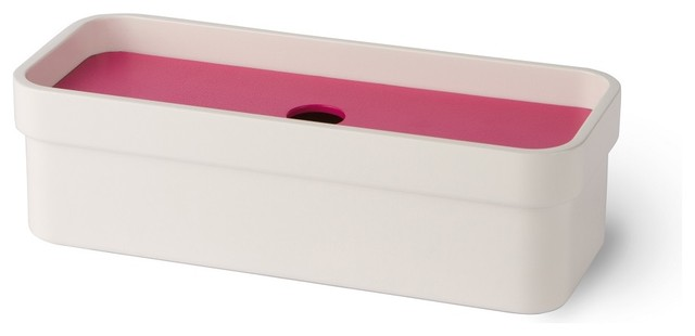 Curva 5148 Soap Dish, Pink contemporary-soap-dishes-and-holders