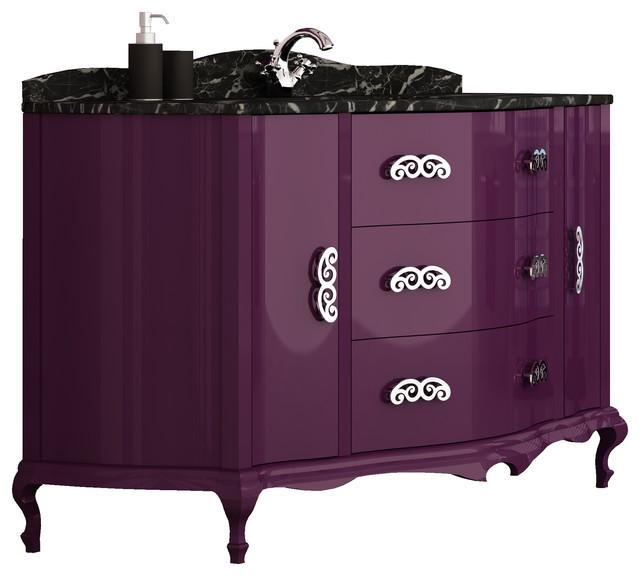 Purple And Black Bathroom: Purple Bathroom Vanity. Ada Wall Mount Vanity Wayfair