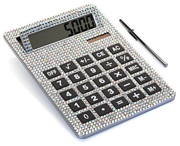 XL Crystal Calculator contemporary-desk-accessories